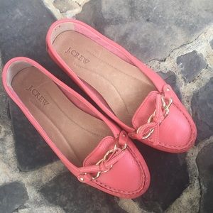 J. Crew Coral Slip On flats Loafers size 8